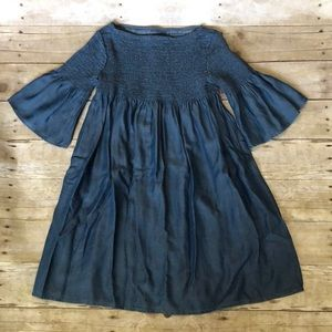 NWT girls Gap chambray bell sleeve dress